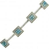 Blue and White Diamond Bracelet