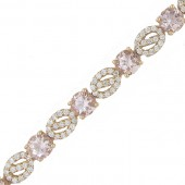Morganite & Diamond Bracelet