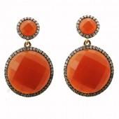 Agate & Diamond Earrings