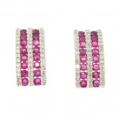 Ruby & Diamond Earrings