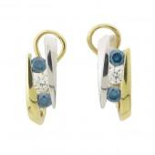 Blue & White Diamond Earrings