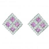 PINK SAPPHIRE & DIAMOND EARRING