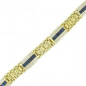 Men's Sapphire & Diamond Bracelet