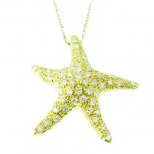 Diamond Star Fish Pendant
