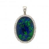 Gilson Opal & Diamond Pendant