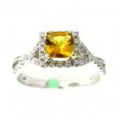 Yellow Emerald & Diamond Ring