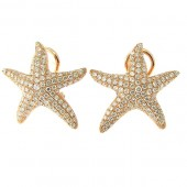 Diamond Star Fish Earrings
