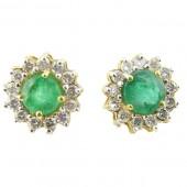 Emerald & Diamond Earring