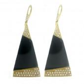 Onyix & Diamond Earring
